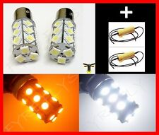 Diamond Back Bi Color Switchback 1157 2357 LED Turn Signal Lights & Resistors F2