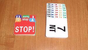 Bridge Bidding Cards (set of four), BRAND NEW