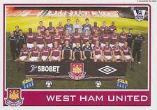 N°401 WEST HAM UNITED TEAM Premier League 2009-2010 TOPPS STICKER VIGNETTE