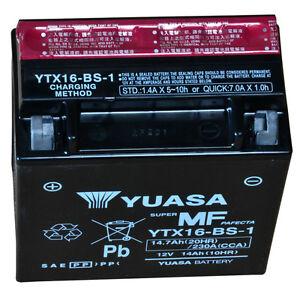 Yuasa YTX16-BS-1 Batteria Moto per Suzuki Intruder