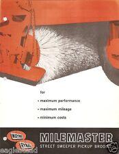 Equipment Brochure - Wayne Rynal - Milemaster Street Sweeper Broom 1963 (E1411)