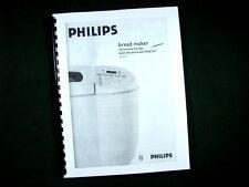 Philips Model HL5231 Bread Maker Machine Instruction Manual & Recipes