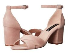 NEW Steve Madden Voomme Sandal Pink Suede 8.5 Chic Fashion Rare Elegant Shoes