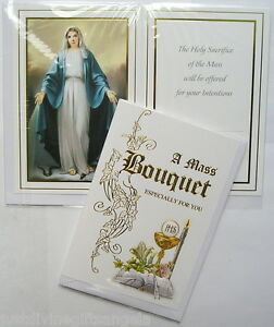 Deluxe A Mass Bouquet Especially for You Card with Insert Catholic 20137
