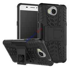 For Huawei Y5 2017/Y6 2017 Case Rugged Armor Hybrid Stand Protective Phone Cover