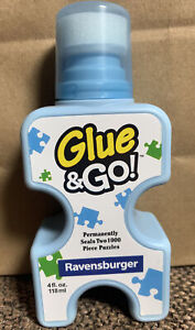 NEW Ravensburger Puzzle Glue & Go 4oz! For 2 1000 Piece Jigsaw Puzzles! Fast S&H