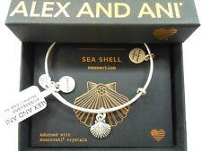 Alex and Ani Sea Shell II Rafaelian Silver Bangle Bracelet NWTBC