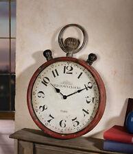 Uhr Wanduhr  batteriebetr. Shabby  Vintage  50 cm Metall