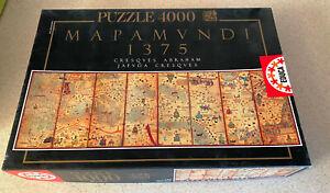 EDUCA -- Mapamundi -- 4000 Piece Jigsaw Puzzle Ancient Map -- OOP