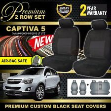 HOLDEN CAPTIVA 5 CG Custom BLACK PREMIUM SEAT COVERS 2ROW 9/2009-1/2015 LT LTZ