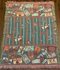 Goodwin Weavers Sports Theme 100% Cotton Tapestry Throw Blanket