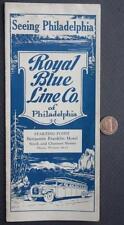 1920-30s Era Philadelphia,Pennsylvania Royal Blue Line Bus-Motor Tours booklet!*