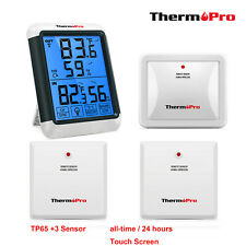 3 Sensor Digital Lcd Indoor Temperature Humidity Meter Thermometer Hygrometer