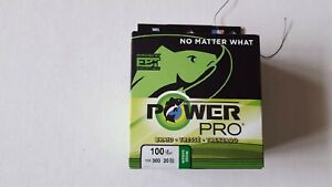 Power Pro Braided Spectra Line 100 lb. x 300 yd. Moss Green, new line, new label