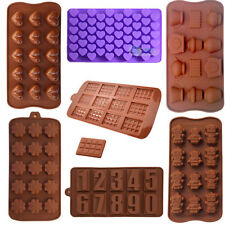 Various Silicone Chocolate Mold Cake Candy Soap Mold Pan Ice Cube Tray Bakeware