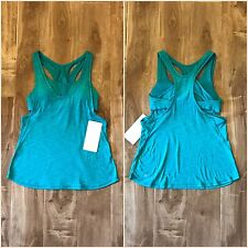 NWT Lululemon Glide & Stride Tank Size 6 Viridian Green Support Build Up Bra