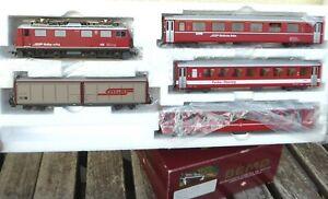 BEMO 7252 120 H0m Set 5-teilig Glacier Express der RhB Epoche 4/6 gut erhalten