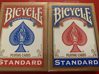 2 x Bicycle Playing Cards Decks 1 Red & 1 Blue