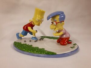 Simpsons 2005 Coalport Characters 'Losing His Marbles' Porcelain Orniment Bart