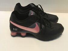 WOMENS NIKE SHOX SHOES SIZE US8/Euro 39 Black/Gray/Pink EUC Running Sneakers
