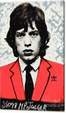 Motiv Mick Jagger 126,9 x 85 cm Silber Alu DIbond PopArt/Malerei/Bild/Street Art