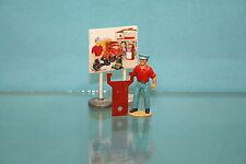 DTF071 - Support Echelle en tôle peinte  pour Berliet 1er secours Dinky Toys 32E
