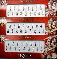1 PACK of MULTI **Long Multi Pack 17's** Indian BRIDAL Gem TIKKA Festival BINDI