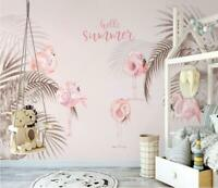 3D Flamingo O2757 Wallpaper Wall Mural Removable Self-adhesive Sticker Kids Amy