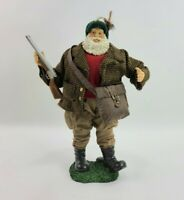 Santa Clause European Pheasant Bird Hunter Christmas Figurine Statue Decoration