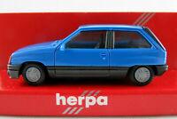 Herpa 2037 Opel Corsa A SR (1983-1987) in lichtblau 1:87/H0 NEU/OVP