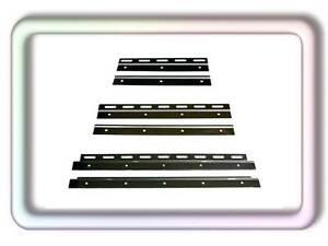 PVC Streifen Vorhang Pendelplatten Pendelleiste Edelstahl auf Glanz poliert