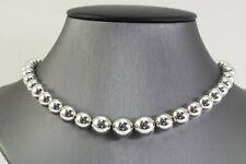 "Tiffany & Co Sterling Silver 925 HardWear Bead Ball Graduated Bead 16"" Necklace"