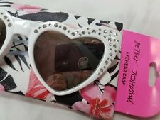 BETSEY JOHNSON  SUNGLASSES  PINK  GLITTERED  HEART ON STEM  NWT
