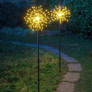 Outdoor Solar Lighting, Firework Stake Path Lights, Set of 2X Large 1.18m Tall