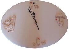 Orologio da Parete da Cucina in Ceramica, Dipinto a Mano, Artigianato Artistico,