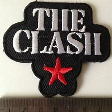 iron on sew on embroidered music patches badges the clash patch badge transfer