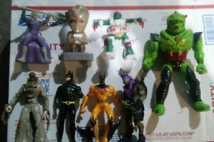 Action Figure Lot 90's Mixed kenner Vintage LOT of 8 TMNT Batman Conan hasbro