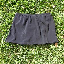 "Lands End 11.5"" Modest Swim Skirt - Built In Panty - Rich Black - Womens 6"