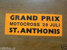 STICKER,DECAL GRAND PRIX MOTOCROSS 28 JULI 1968 ST.ANTHONIS