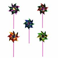 Creative 10pcs Packing Small Colorful Plastic Pinwheel Wind Spinner Windmill