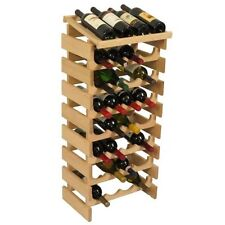 Wooden Mallet 28 Bottle Dakota Wine Rack with Display Top Unfinished NEW