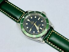 Green 24mm Italian Tanned Vegetable Handmade Leather Watch Band Strap Panerai