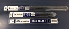 2014-2018 Subaru Forester Front & Rear Windshield Wiper Blade Set Genuine OEM