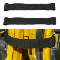 Black 2x Car Door Limit Strap Bandage Rope Fits  Wrangler TJ 1997-2006