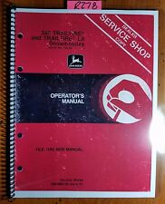 John Deere 340 Trailfire & 440 LX Snowmobile S/N 190001-220000 Operator Manual