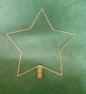 889525G Klöppeln Klöppelrahmen Metall Christbaumspitze 5eckig gold vergoldet