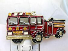 STAINED GLASS STYLE FIRE TRUCK NIGHT LIGHT FOR ALL-NEW