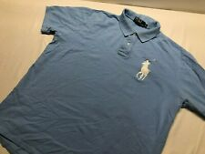 Men Polo Ralph Lauren BIG PONY Mesh Polo Shirt - XL  - CLASSIC FIT light blue