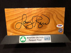 LARRY BIRD original SIGNED BOSTON GARDEN PARQUET FLOOR BOARD piece Celtics PSA
