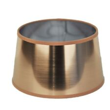 Lampenschirm für Tischleuchte in Rund  Lack Kupfer Gold  TL 20-17-11